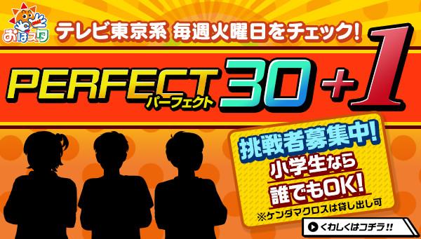 PERFECT30+1 挑戦者募集中!